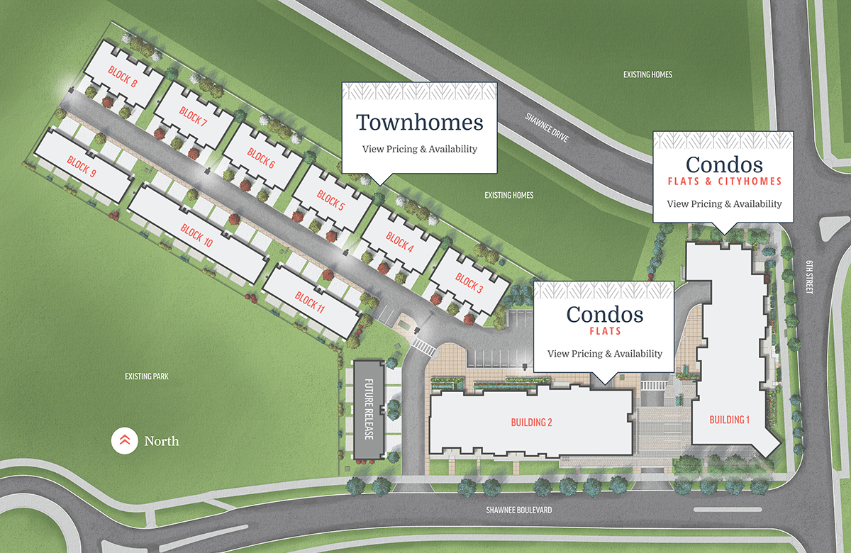 Map of Townhouses and Condos at Fish Creek Exchange