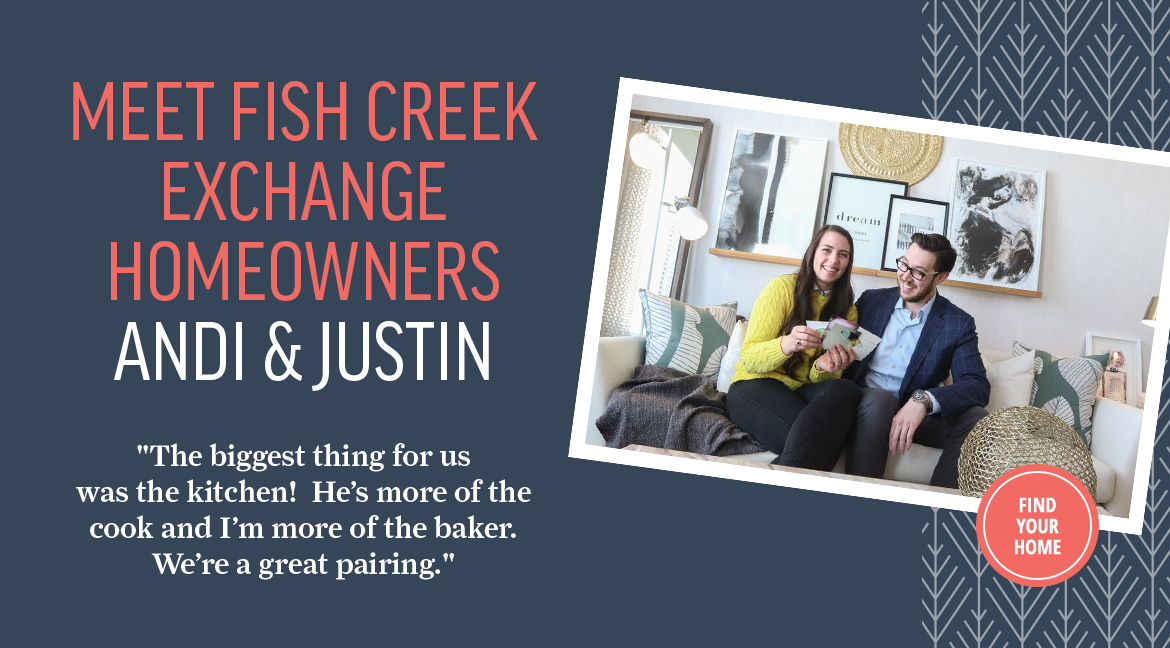 Fish Creek Exchange homeowners Andi and Justin