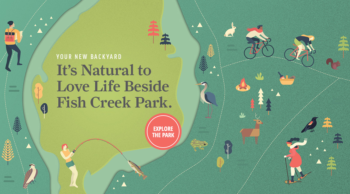 Fish Creek Park amenities illustration